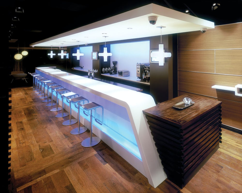 Bar with modern appearance