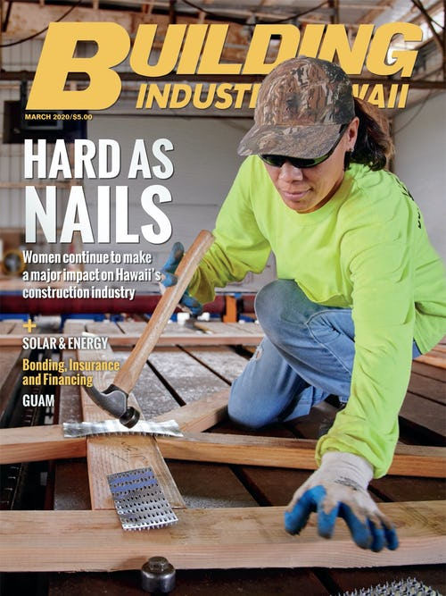 Cover of Building Industry Hawaii Magazine for March 2020
