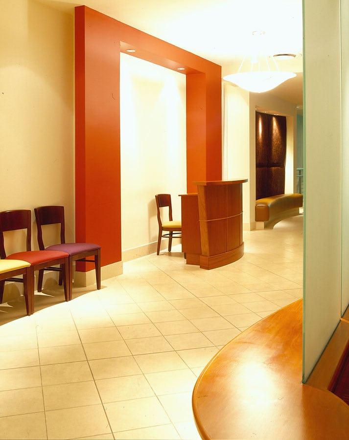 Reception desk at Assaggio Ristorante