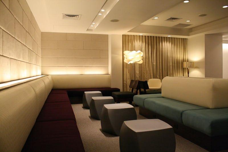 Interior seating area.