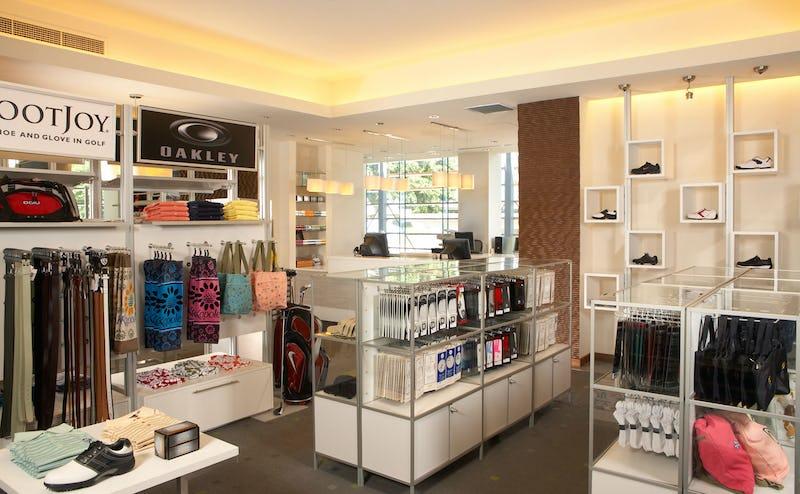 Interior merchandise store.