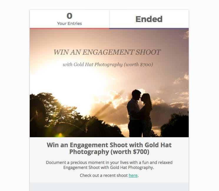 Giveaways for photography businesses