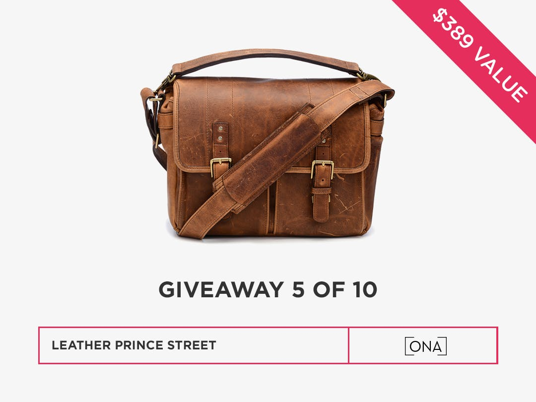 Win a leather camera bag from Ona Bags