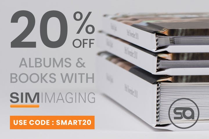 20% off photo albums with SIM Imaging and SmartAlbums 2019