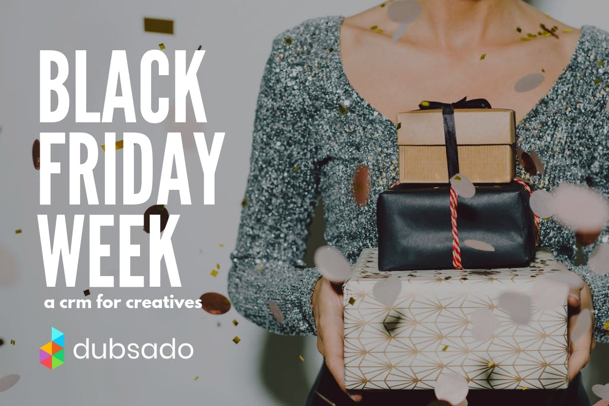 Black Friday special on Dubsado client management system for photographers