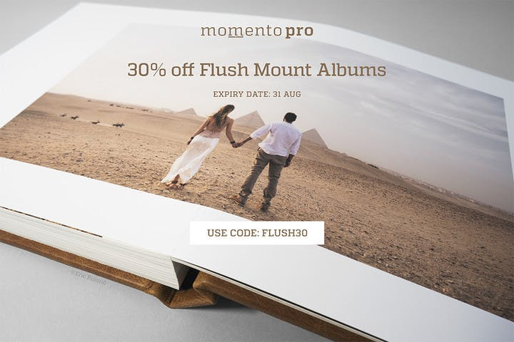 30% off Flush Mount Photo Albums with Momento Pro and SmartAlbums 2019