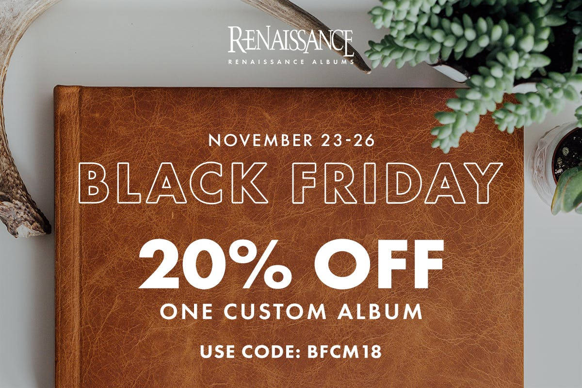 Black Friday discount code from Renaissance Albums