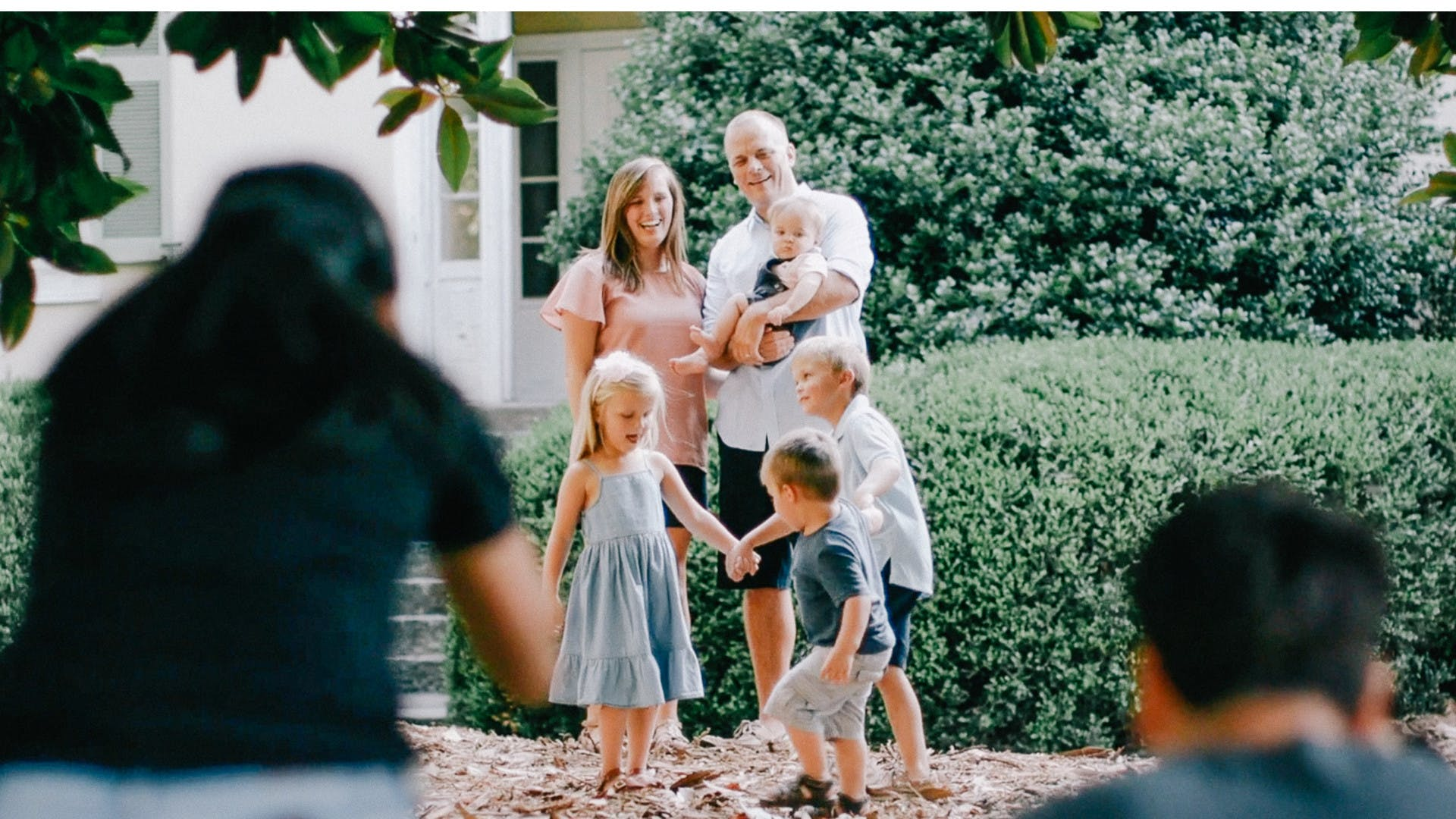 Professional wedding and portrait photographers Phillip and Eileen Blume on set in Georgia