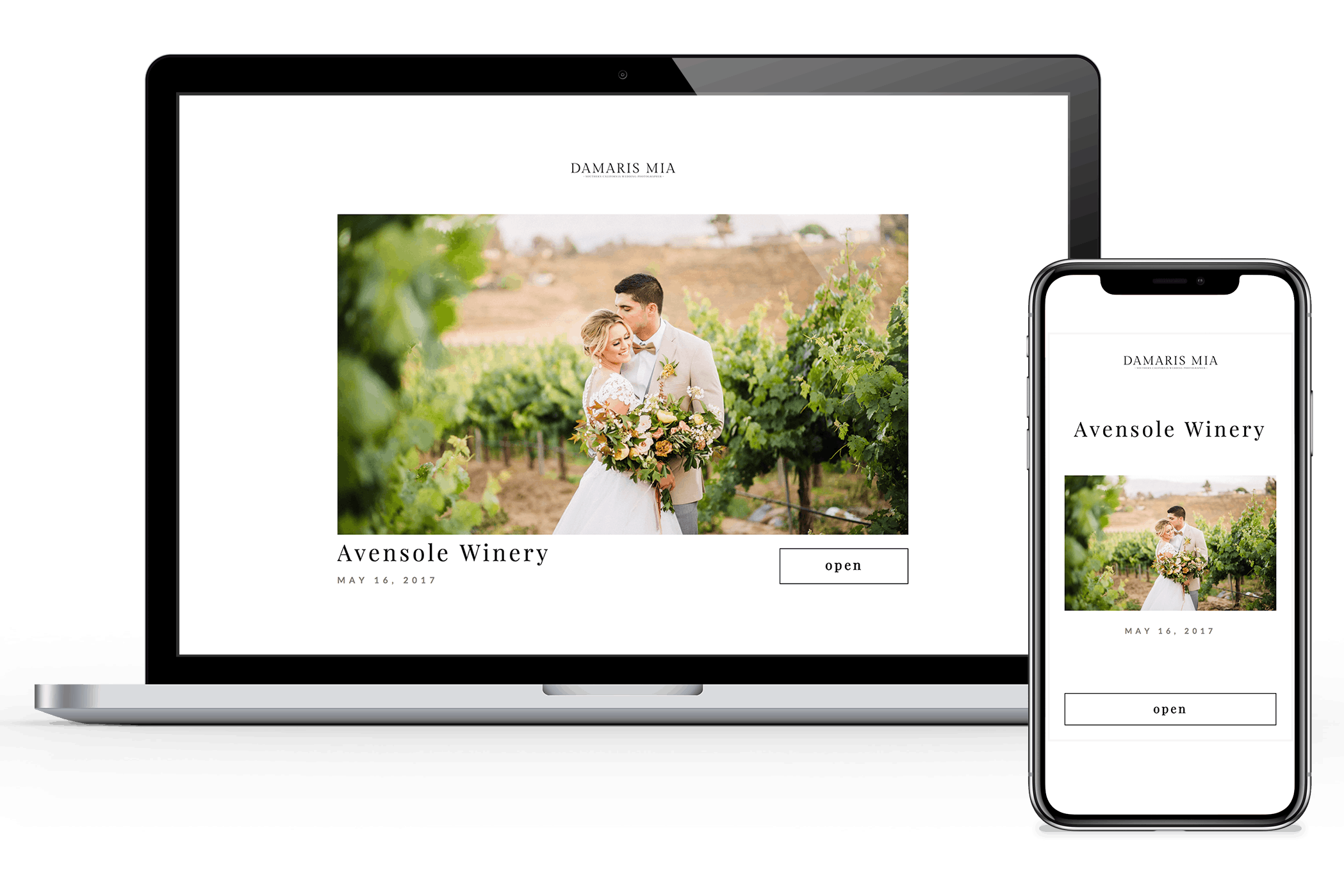 Photo gallery designed for professional photographers