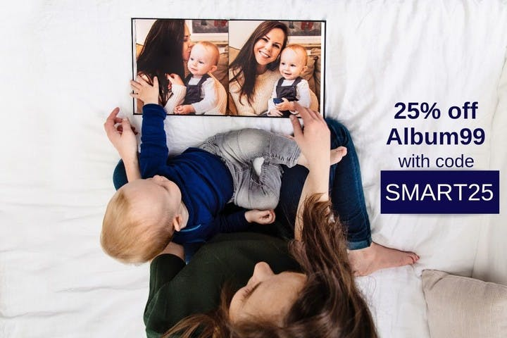25% off one photo album with Nations Photo Lab and SmartAlbums 2019