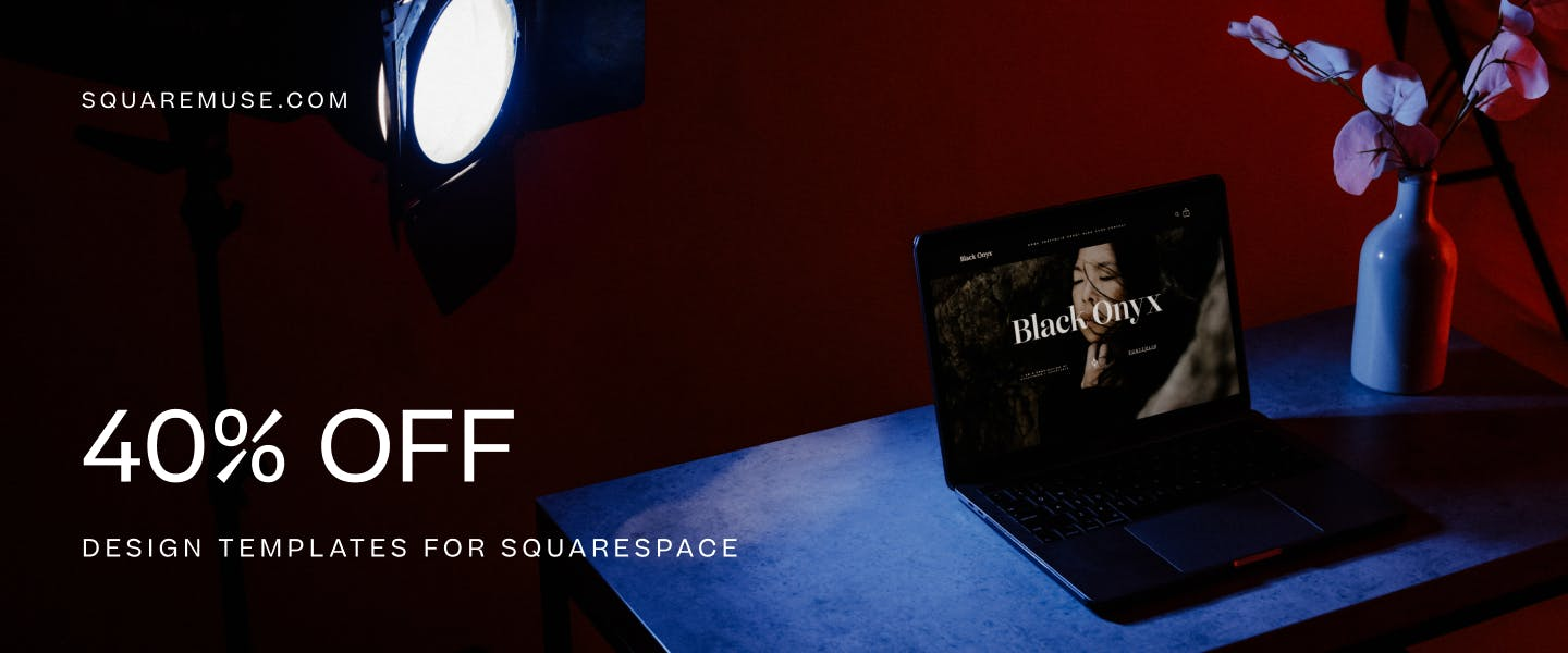 Black Friday deals for photographers Squarespace design templates discount code