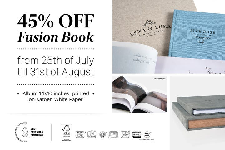 45% off Fusion Photo Albums with Floricolor and SmartAlbums 2019