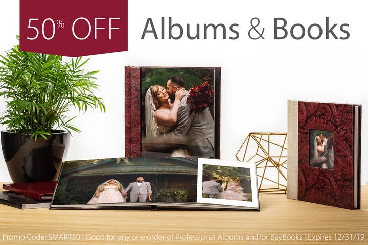 50% off a sample photo album with Bay Photo and SmartAlbums 2019