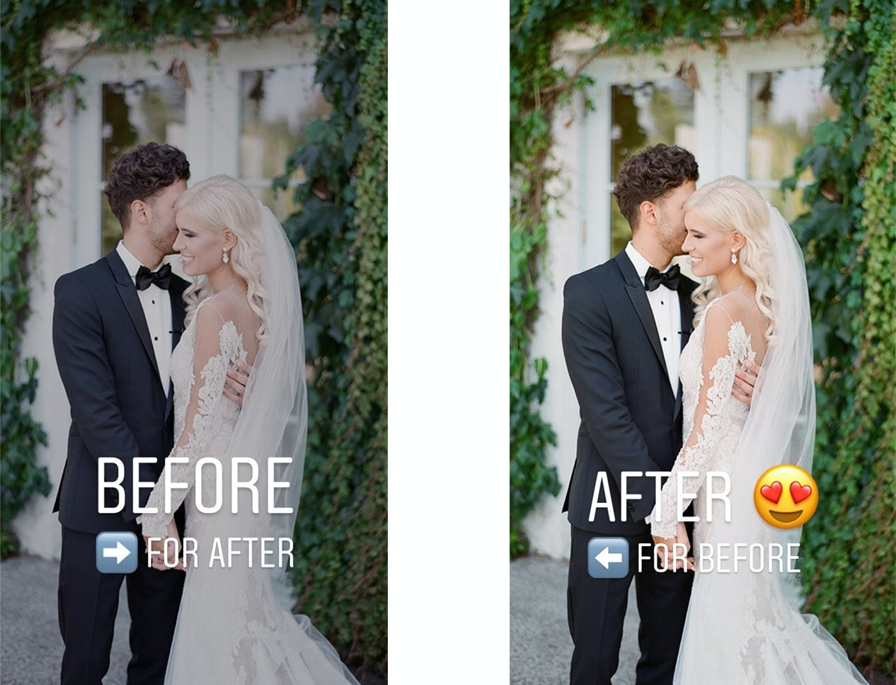 Share before and after editing photos to your Instagram Story to grow your photography business
