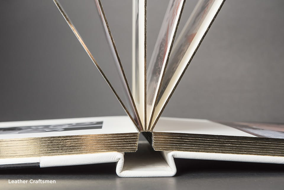 Matted photo albums give a luxurious finish