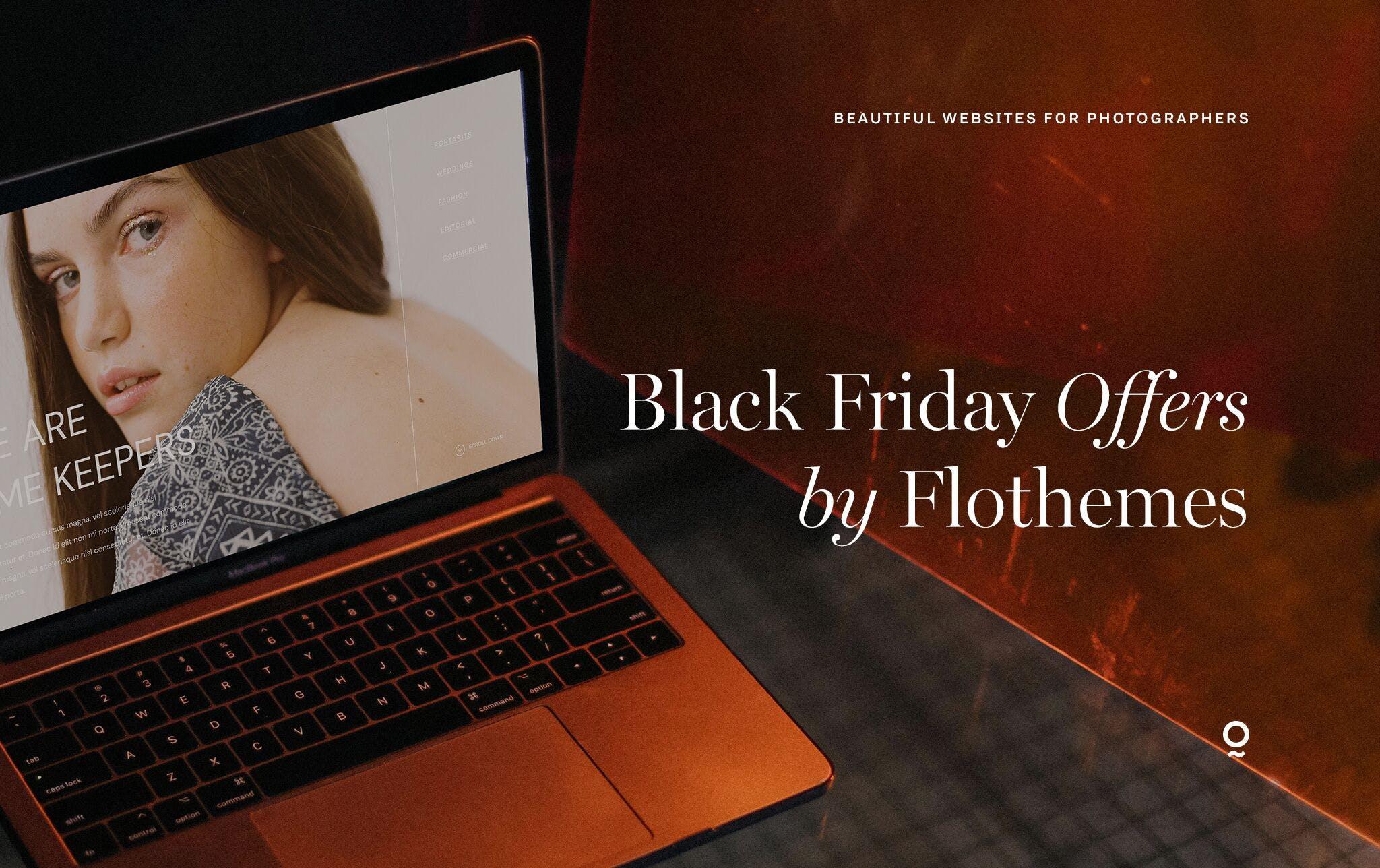 Flothemes Black Friday 2019 deal on website designs for photographers