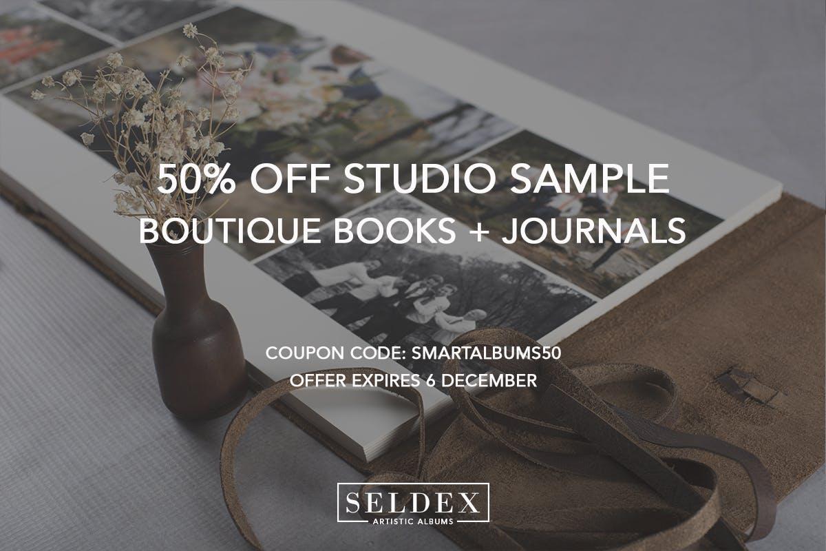Seldex Artistic Albums Black Friday 2019 discount for phorogtaphers