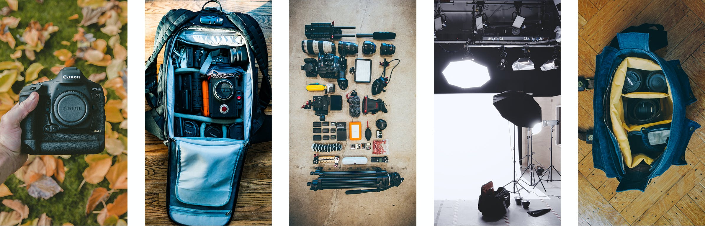Share photos of your photography gear on Instagram Stories to grow your photography business