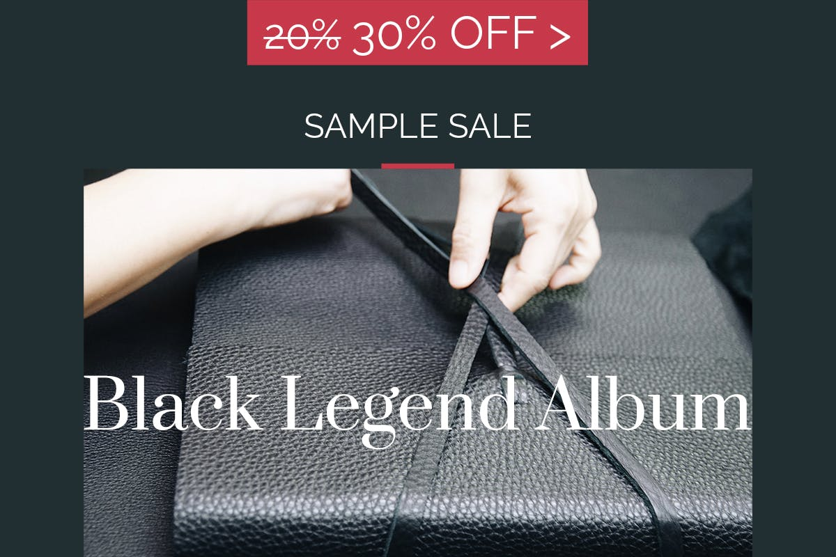 30% off the Black Legend Photo Album from Woodland Albums