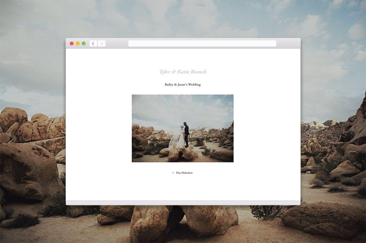 Wedding photographer Tyler Branch on creating beautiful slideshows