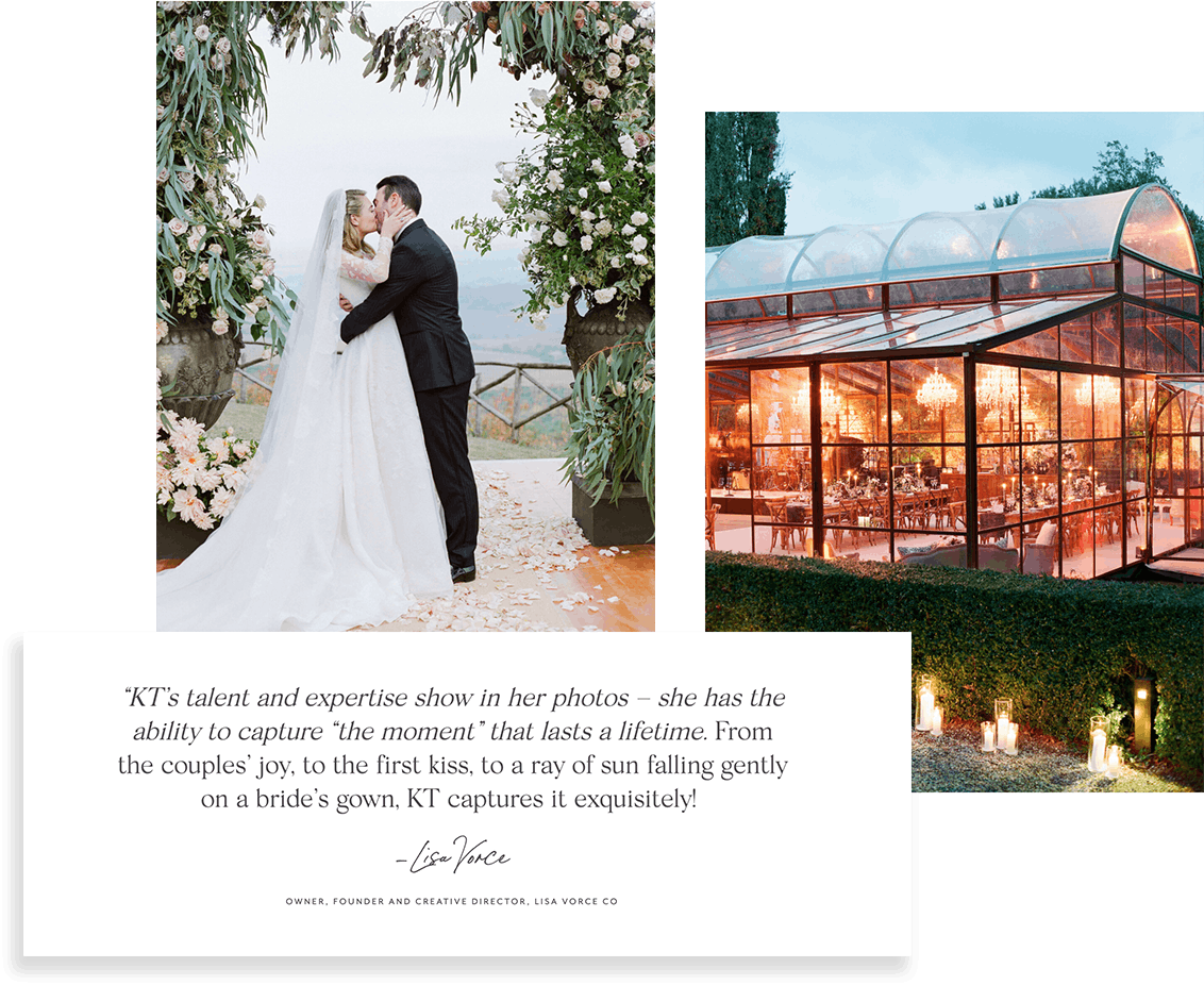 Wedding photographer KT Merry uses testimonials within her portfolio to book more clients.