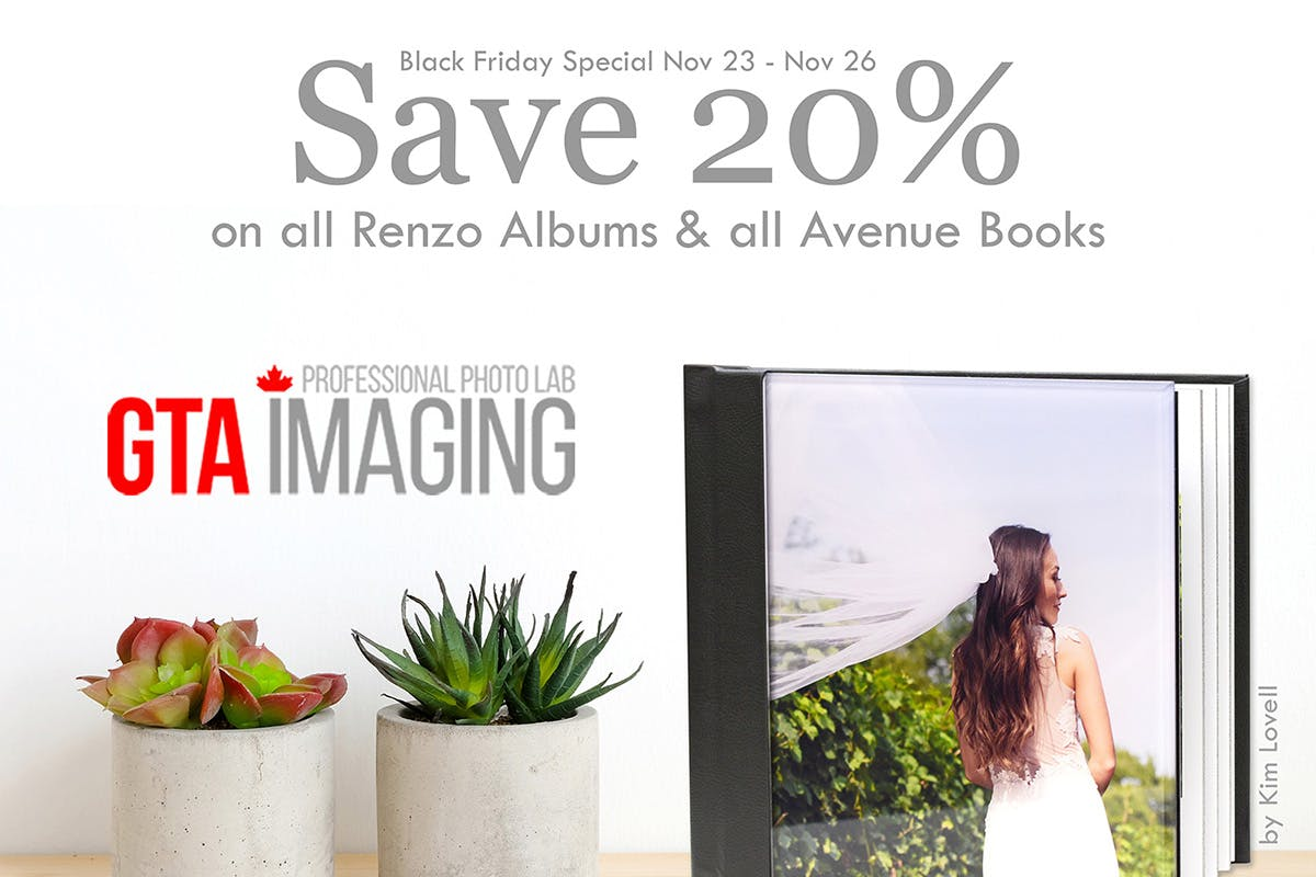 Take 20% off all Renzo Albums and Avenue Books with GTA Imaging