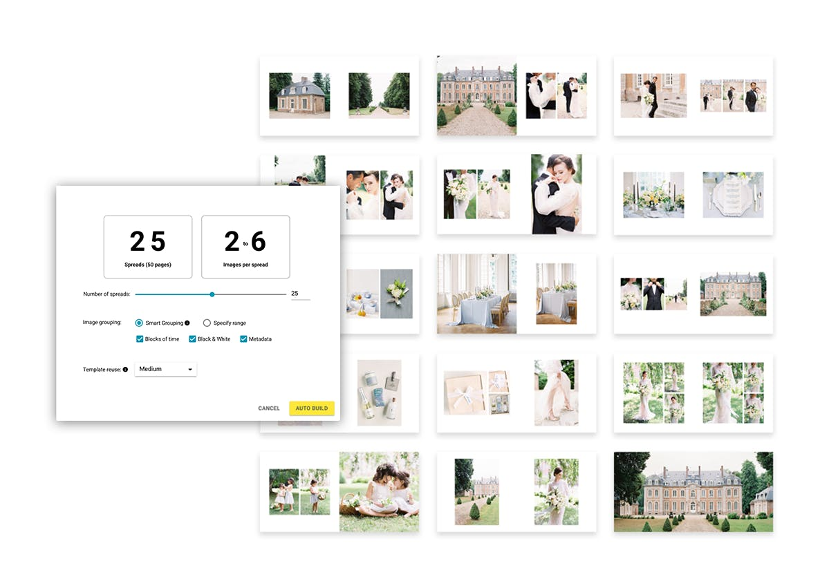 Auto Build is a new feature in SmartAlbums 2020 helping photographs build photo albums faster than ever