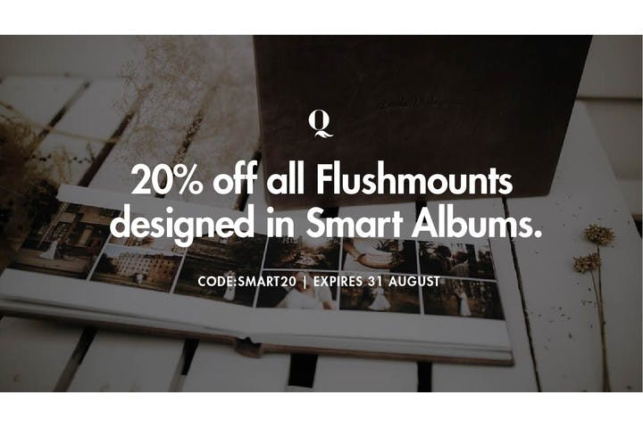 20% off Queensberry Flush Mount Photo Albums with SmartAlbums 2019