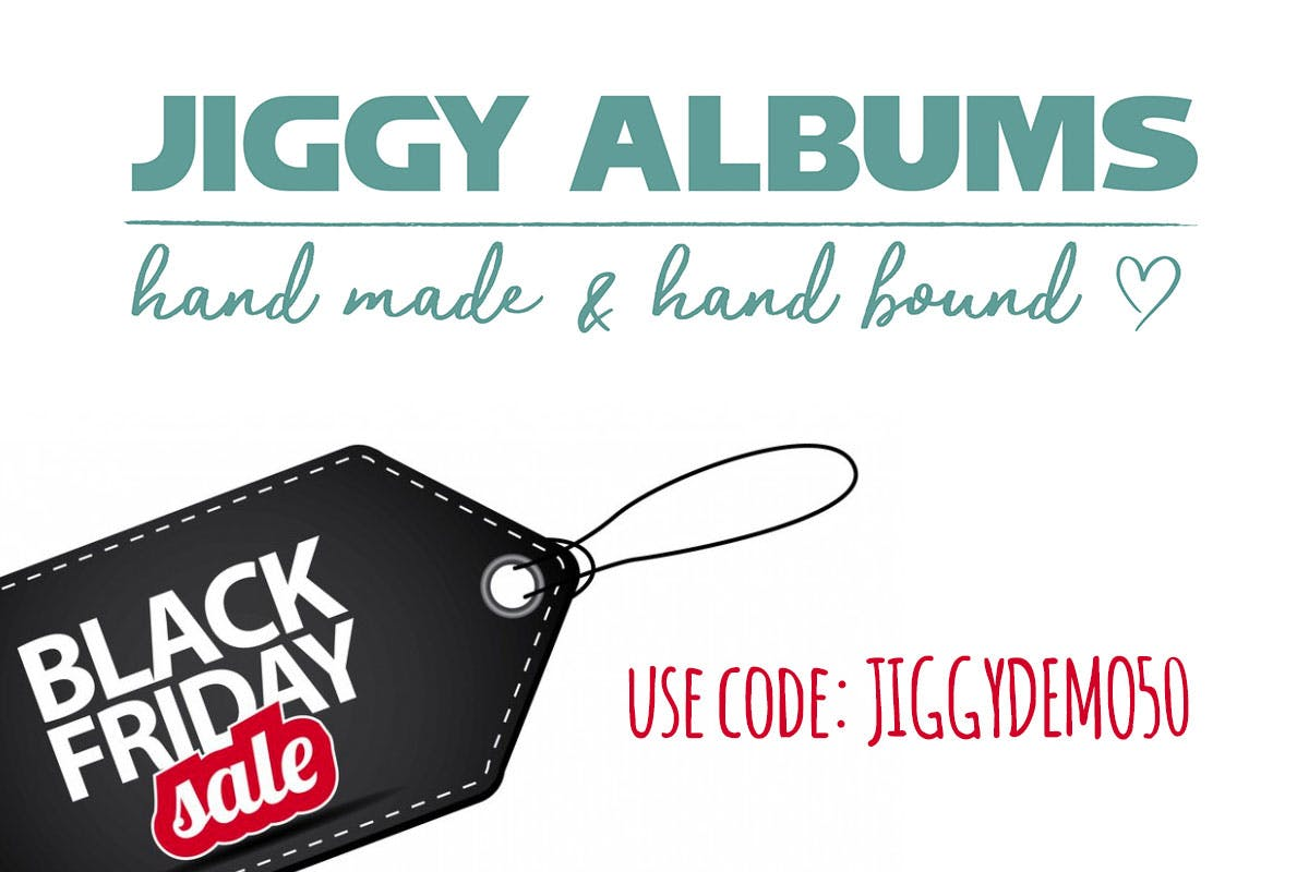 Take 50% off all demo photo albums with Jiggy Albums