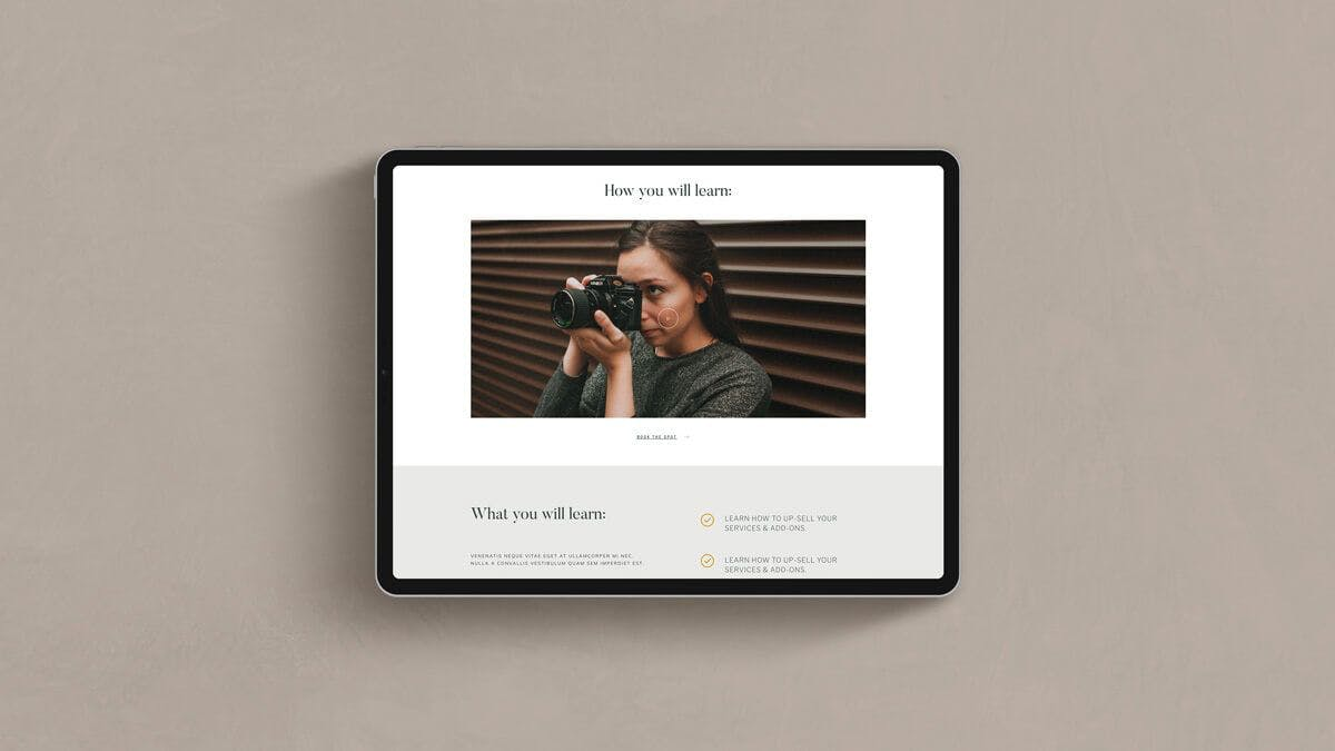 High-converting WordPress template for photographers