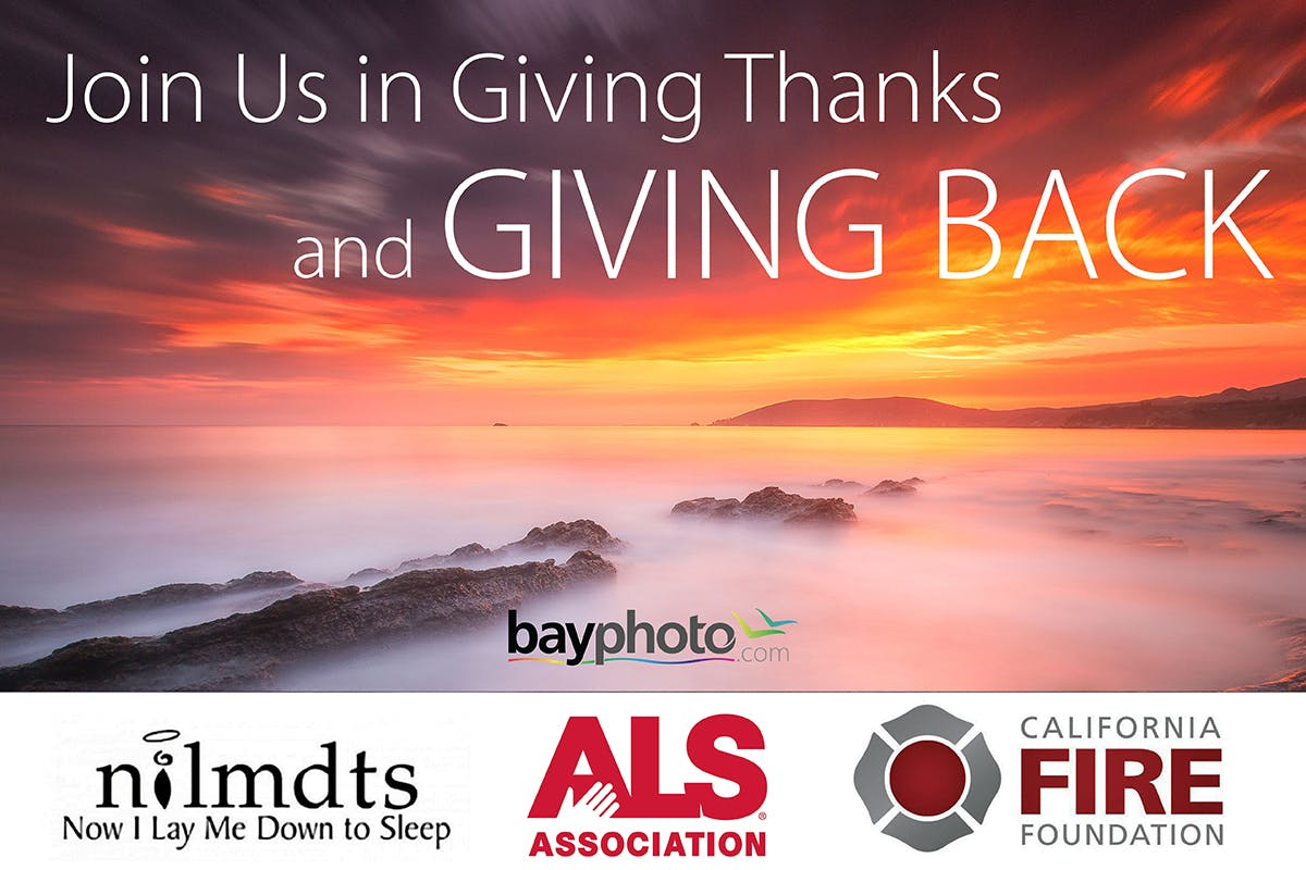Black Friday donations from Bay Photo Lab
