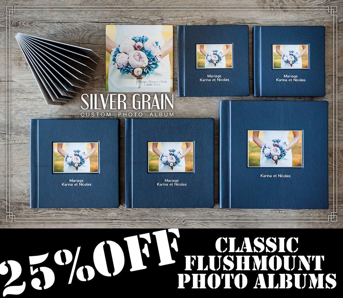 Silver Grain Custom Photo Albums Black Friday discount