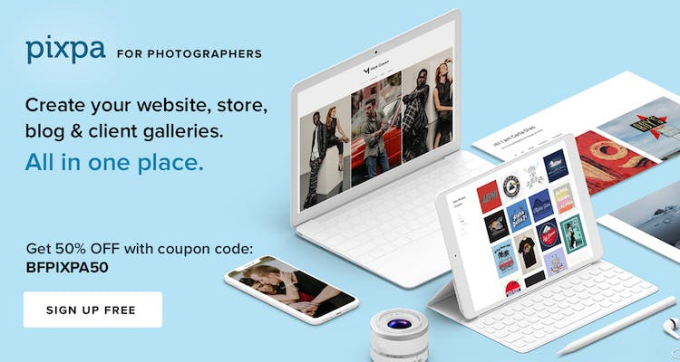 Pixpa Black Friday 2019 discount for photographers