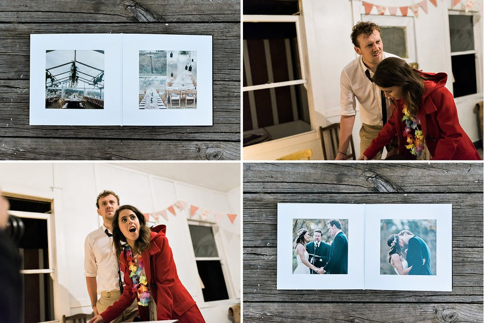 Same day delivery of a wedding album by professional photographer