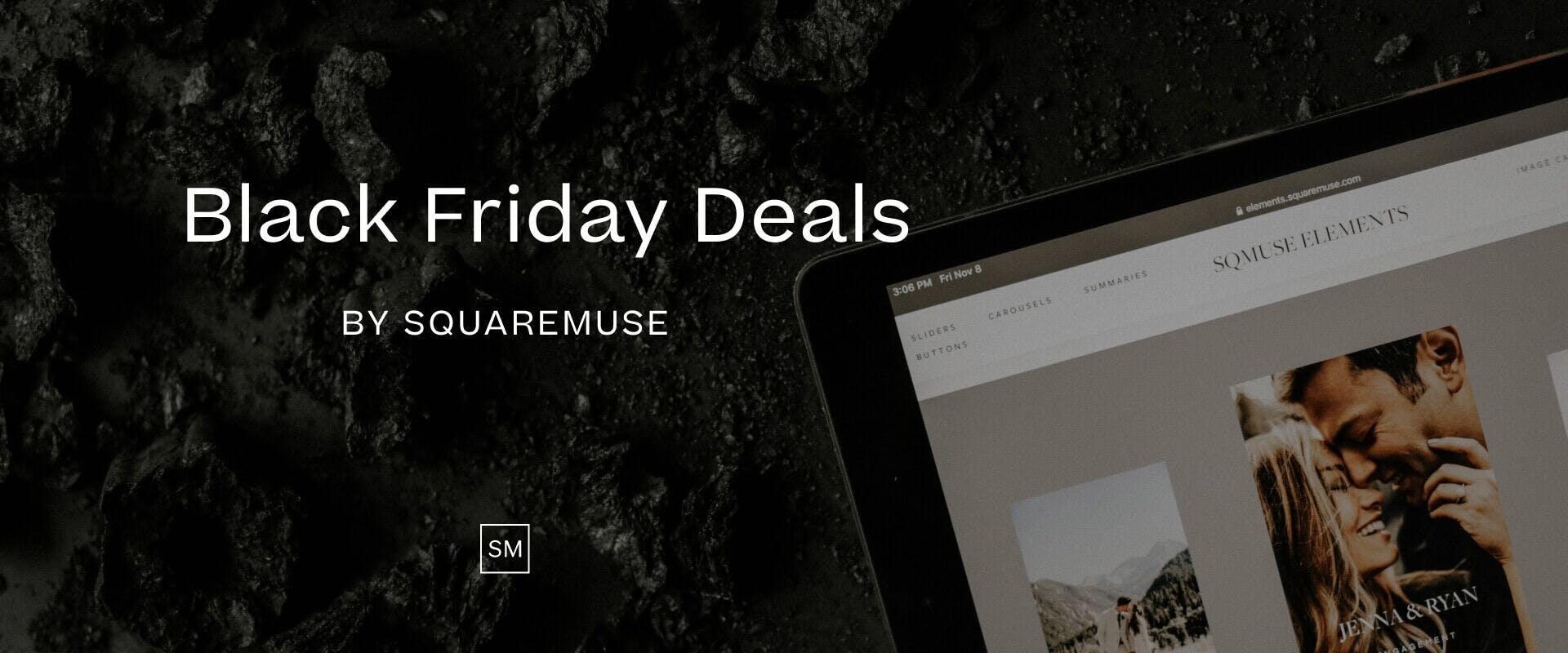 Squaremuse Black Friday deals for SquareSpace website templates