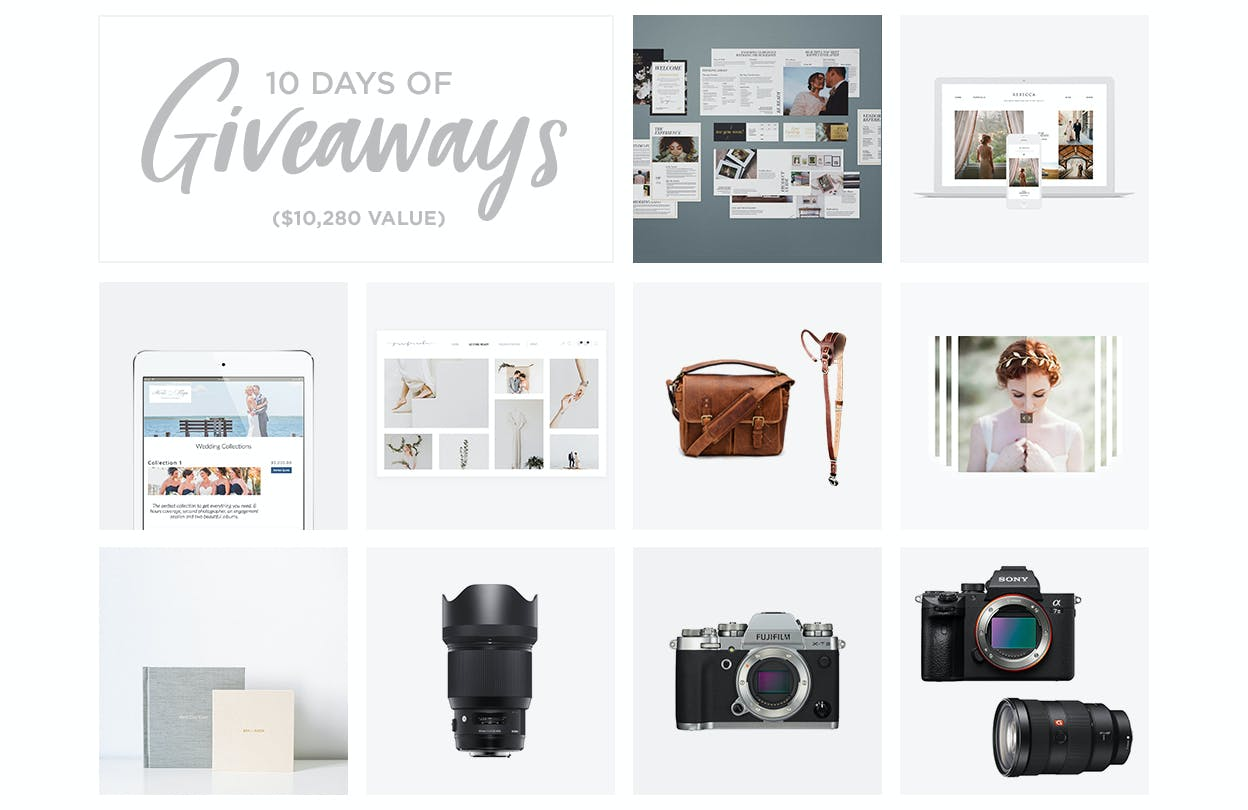 10 days of giveaways for photographers