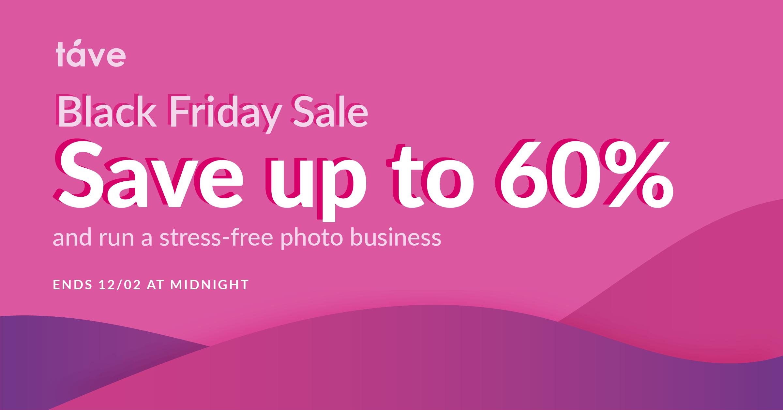 Táve Black Friday 2019 discount for photographers