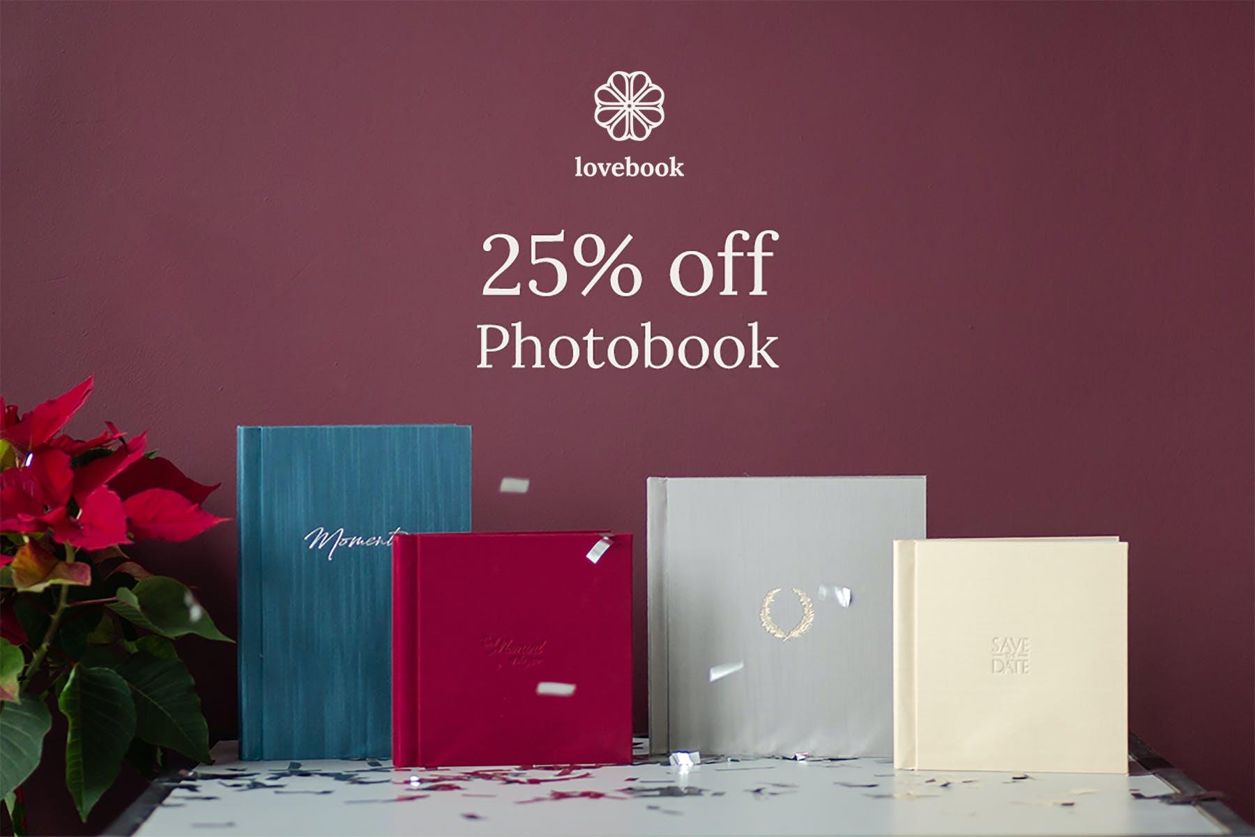 Lovebook Black Friday 2019 discount on photobooks for photographers