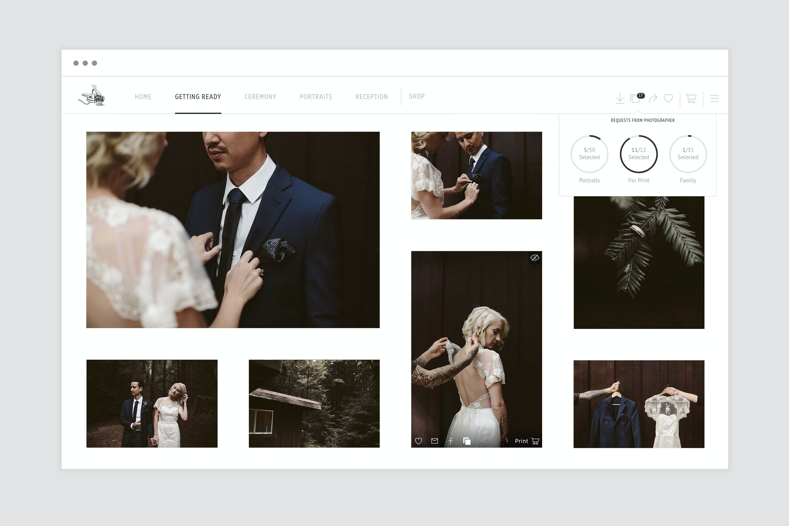 Manage client photo selections and print choices with Pic-Time