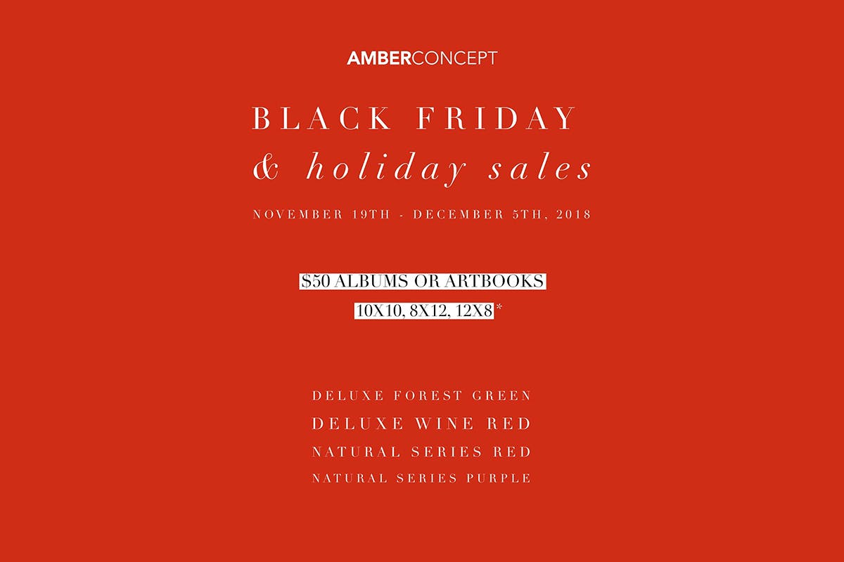 Take $50 off on Holiday Albums and Artbooks with Amber Concept