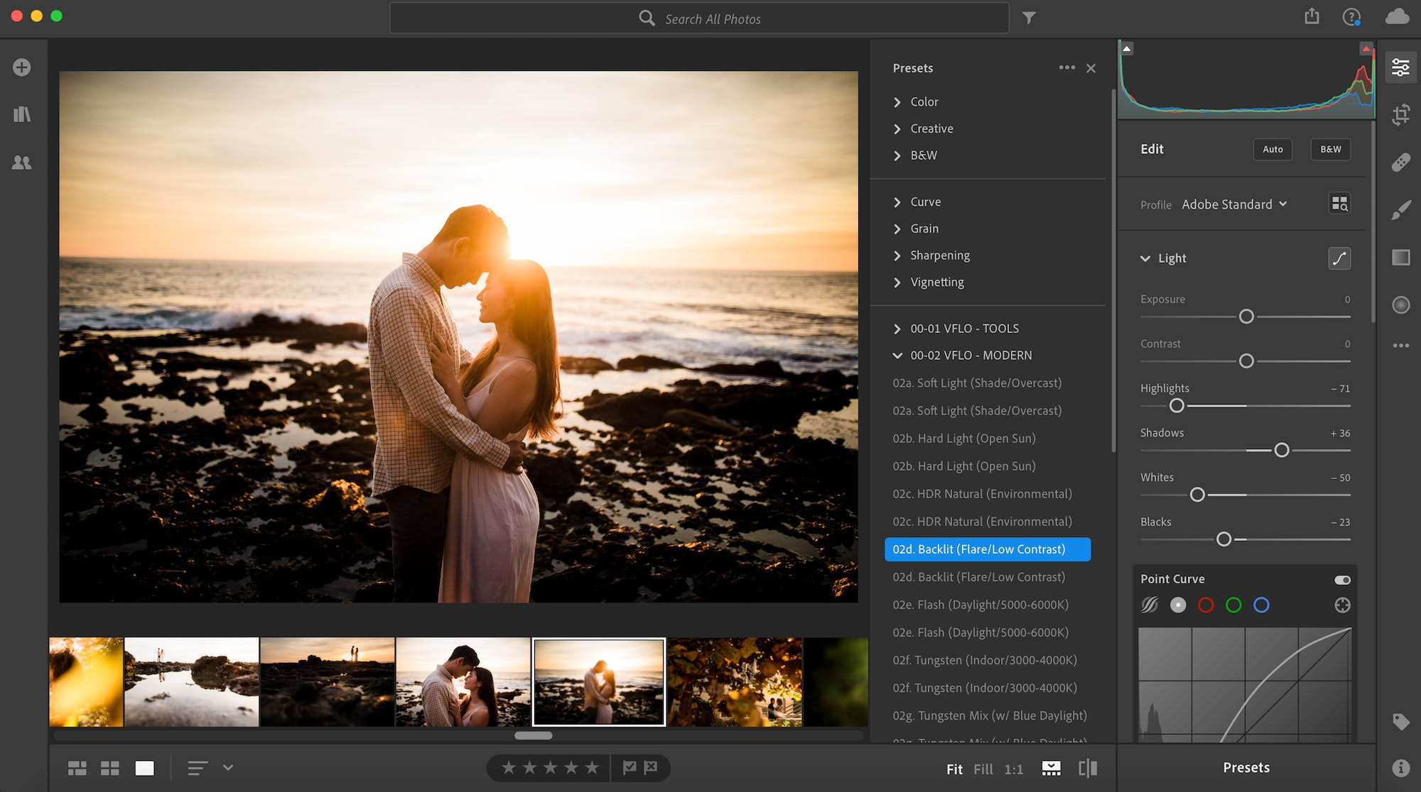Use a consistent editing style to create beautiful photo slideshows
