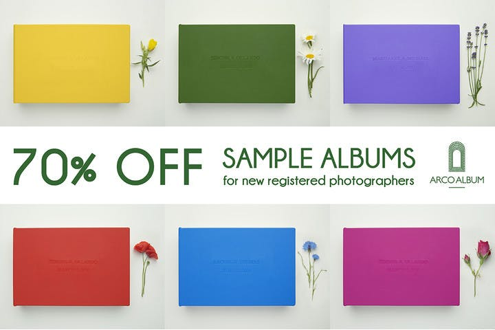 70% off any sample album with Arco Album and SmartAlbums 2019