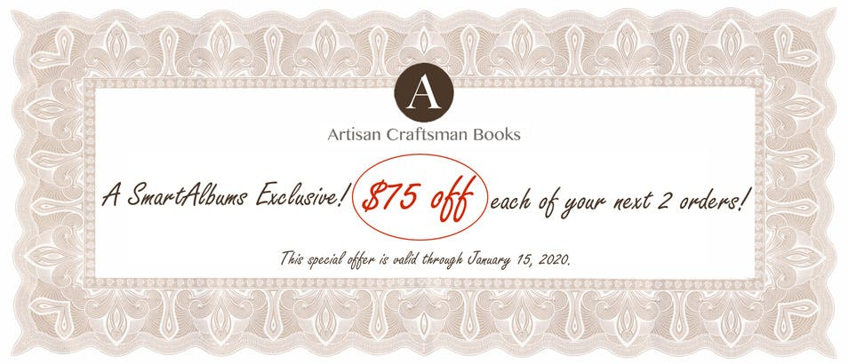 Artisan Craftsman Books Black Friday 2019 discount on photo albums