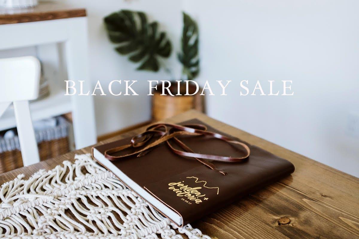 Black Friday discount on Edwin or Ella albums from Dekora Album Co