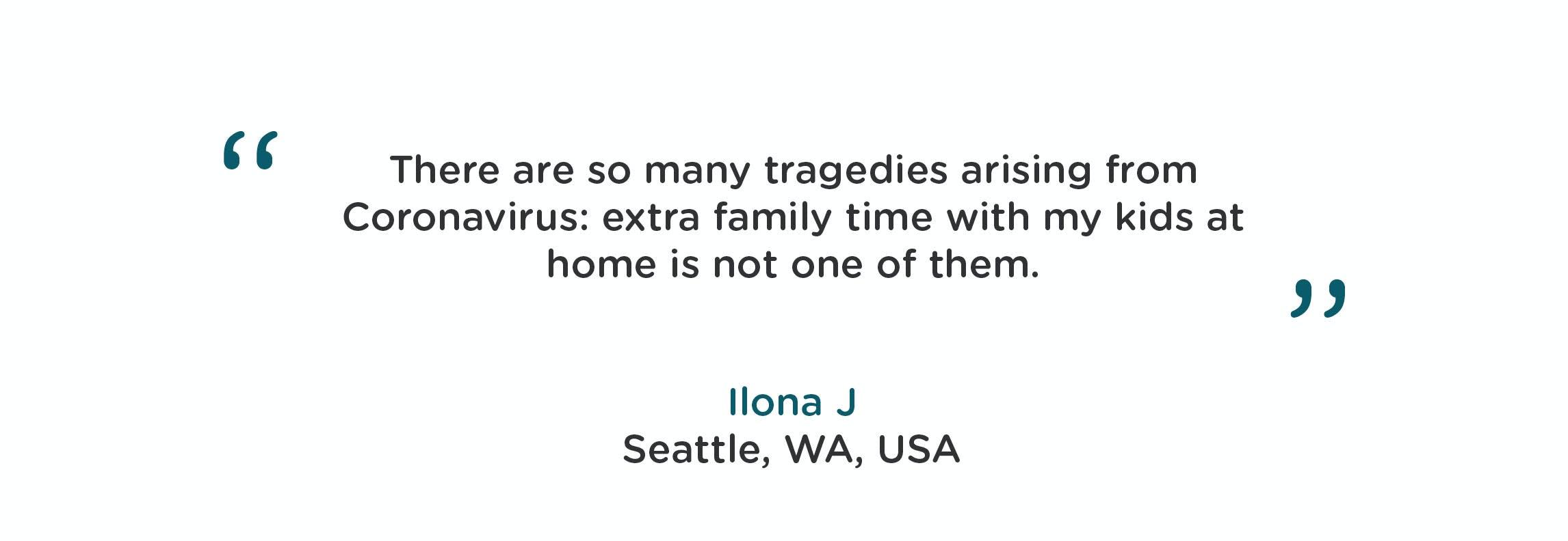 Corona virus quote from Ilona