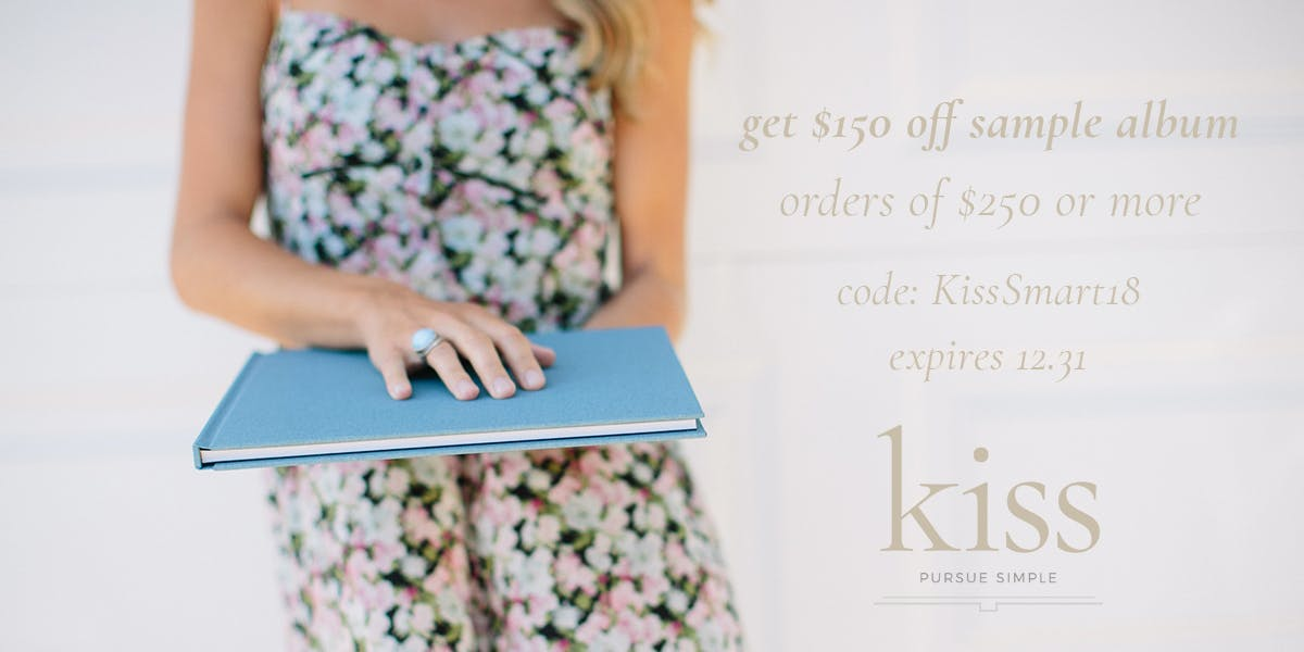 Take $150 off your Sample Album with Kiss Books