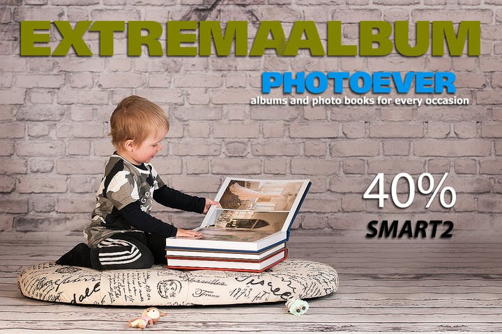 40% off photo albums with Extremaalbum Photoever and SmartAlbums 2019
