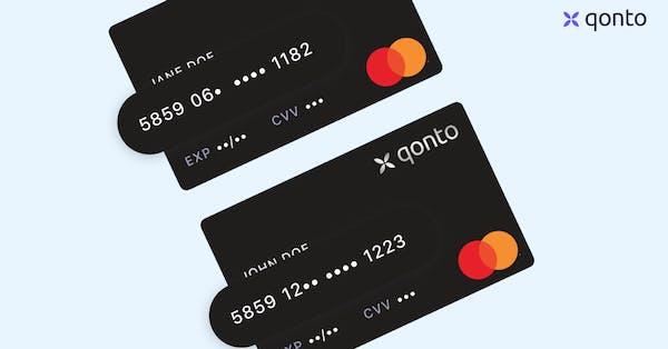 kartennummer kreditkarte qonto