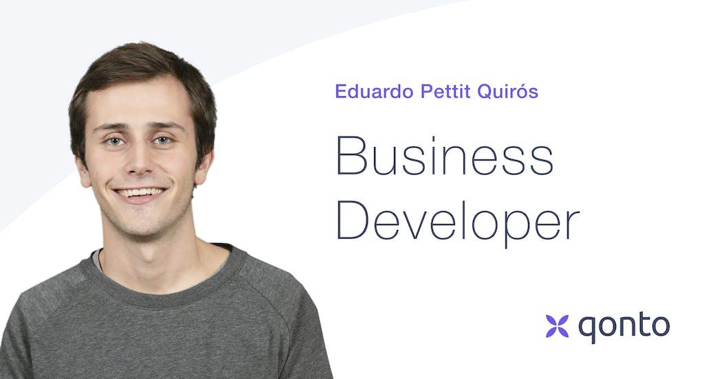 Eduardo Pettit Quirós, encargado de nuevos clientes en Qonto España