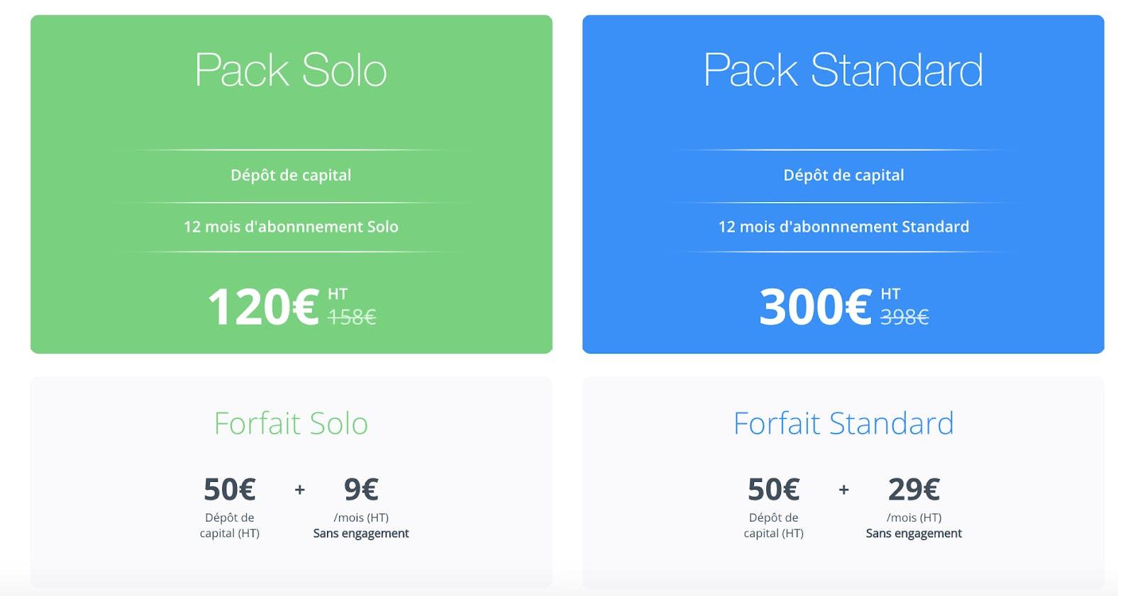 Packs Qonto création d'entreprise
